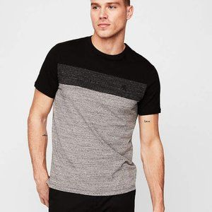 Express Colorblock Short Sleeve Crew Neck Tshirt